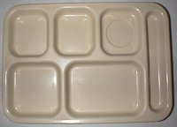 Plastic cafeteria tray